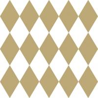 Servietten 33x33 cm - Harlekin Gold