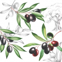 Lunch Servietten Olives