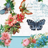 Servietten 33x33 cm - Flowers And Butterflies