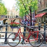 Servietten 33x33 cm - Amsterdam Kanal
