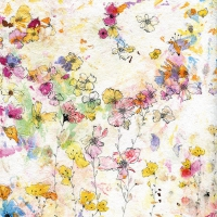 Servietten 33x33 cm - Spritzer Floral