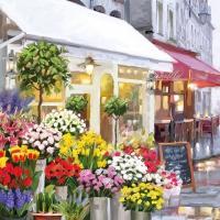 Servietten 33x33 cm - Blumenladen