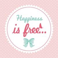 Lunch Servietten Happiness is Free