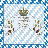 Servietten 33x33 cm - Königliches Bayern