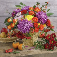 Servietten 33x33 cm - Autumn Bouquet