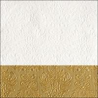 Servietten 33x33 cm - Elegance Dip Gold