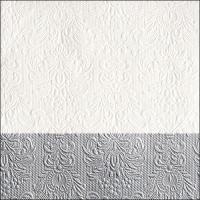 Servietten 33x33 cm - Elegance Dip Silver