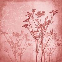 Servietten 33x33 cm - Blumenharmonie Rot