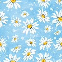 Servietten 33x33 cm - Daisies Blue
