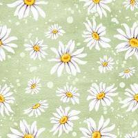 Servietten 33x33 cm - Daisies Green
