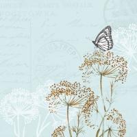 Servietten 33x33 cm - Butterfly Branches Blue