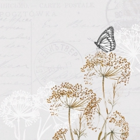 Servietten 33x33 cm - Schmetterlingszweige Stein
