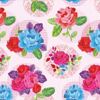 Servietten 33x33 cm - Moderne Rose Rosa