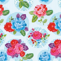 Servietten 33x33 cm - Modern Rose Blue