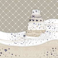 Servietten 33x33 cm - Sweet Cake Cream