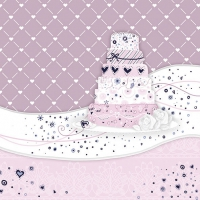 Servietten 33x33 cm - Sweet Cake Rose