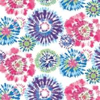 Servietten 33x33 cm - Batik Pink