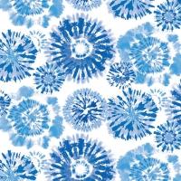 Servietten 33x33 cm - Batik Blue