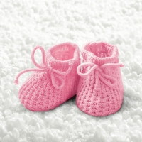 Lunch Servietten Baby Girl Booties