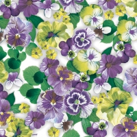 Servietten 33x33 cm - Pansy All Over Purple