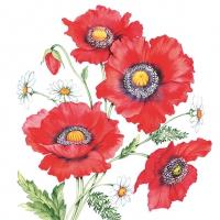 Servietten 33x33 cm - Poppy Scene