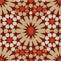 Servietten 33x33 cm - Elino Red