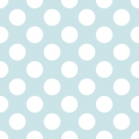 Servietten 33x33 cm - Big Dots Light Blue
