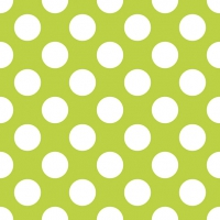 Servietten 33x33 cm - Big Dots Green