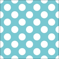 Servietten 33x33 cm - Big Dots Blue