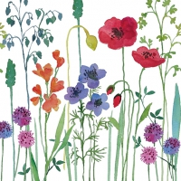 Servietten 33x33 cm - Meadow Flowers