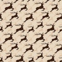 Servietten 33x33 cm - Jumping Deer Brown