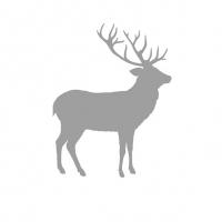 Servietten 33x33 cm - Deer Contour Silver