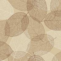 Servietten 33x33 cm - Natürliche Blätter