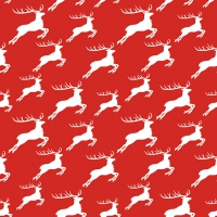 Servietten 33x33 cm - Jumping Deer Neg.Red