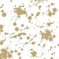Servietten 33x33 cm - Splash Gold