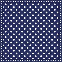 Servietten 33x33 cm - Stripes Dots Blue