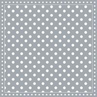 Servietten 33x33 cm - Stripes Dots Grey