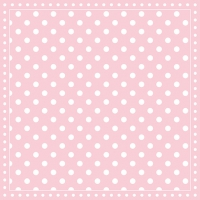 Servietten 33x33 cm - Stripes Dots Pink