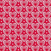 Servietten 33x33 cm - Hearts In Hearts Red
