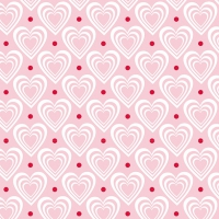 Servietten 33x33 cm - Hearts In Hearts Pink