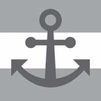 Servietten 33x33 cm - Anchor Away Grey