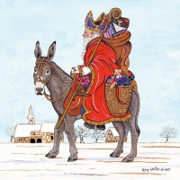 Servietten 33x33 cm - Saint Nicholas