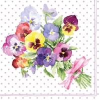 Servietten 33x33 cm - Bunch of Violets Berry