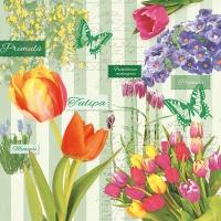 Servietten 33x33 cm - Spring Flowering Green