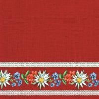 Servietten 33x33 cm - Bavarian Flowers red