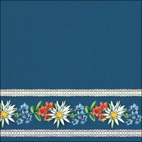 Servietten 33x33 cm - Bavarian Flowers blue