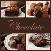 Servietten 33x33 cm - Schokolade