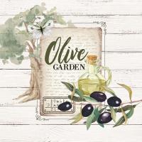 Servietten 33x33 cm - Olive Garden