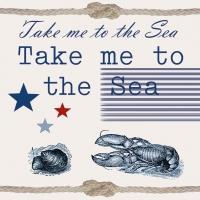 Servietten 33x33 cm - Bring mich zum Meer.