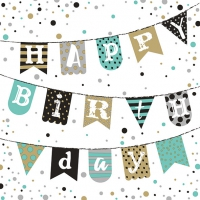 Servietten 33x33 cm - Birthday Garland